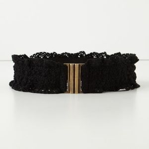 {Anthropologie} Lacey Corset Belt size S/M